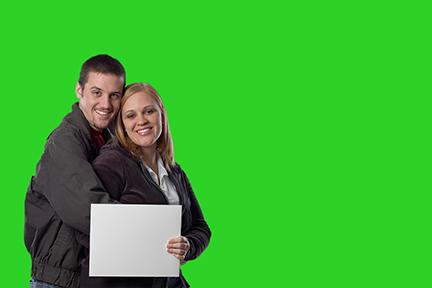 using a green screen
