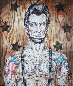 Abraham Lincoln Tattooed
