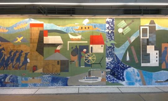 Subway mural